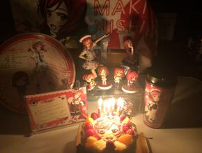 ラブライブ!の西木野真姫の誕生日を祝うイラストケーキ