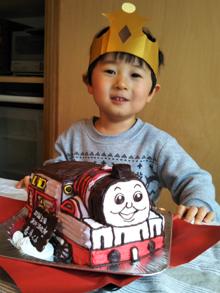 トーマス立体ケーキ