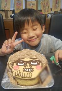 ヒカキンの顔立体ケーキ