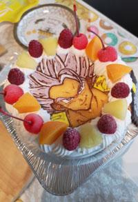 ドラゴンボール、ゴジータのキャラケーキ
