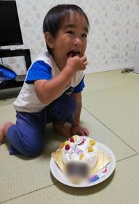 ニモジンベエザメのイラストケーキ