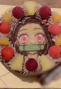 鬼滅の刃のねずこのキャラクターケーキ