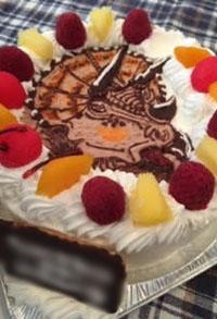 恐竜、ビックホーンのケーキ