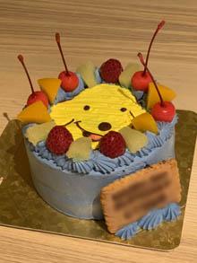 犬、SPOTのキャラクターケーキ