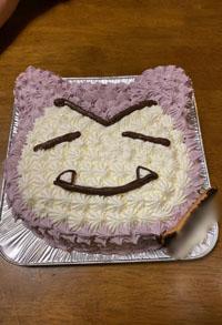 カビゴン顔型立体ケーキ