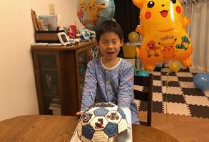 サッカーボール【川崎フロンターレ】の立体ケーキ