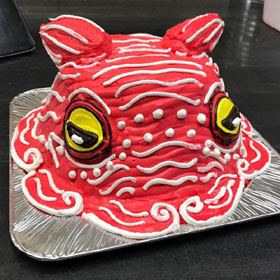 タコ、メンダコの立体ケーキ