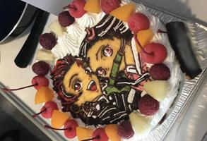 鬼滅の刃の禰豆子と炭治郎のケーキ