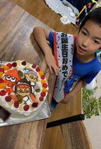 スプラトゥーンのケーキ