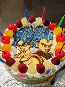 悟空とべジータのケーキ