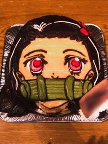 鬼滅の刃禰豆子の顔型立体ケーキ