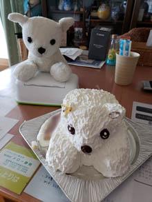 犬の立体ケーキ