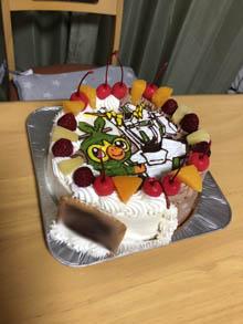 ガンダムとサルノリのキャラケーキ