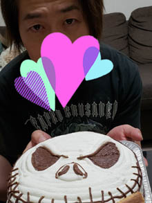ナイトメアジャックの顔型立体ケーキ