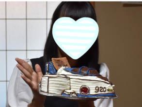 ブルーインパルスの立体ケーキ