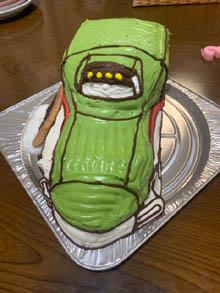 はやぶさの立体ケーキ