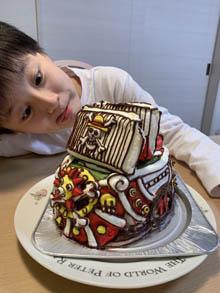 サニー号の立体ケーキ