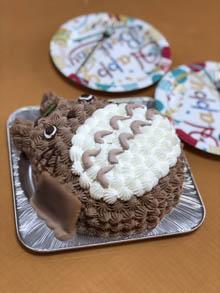 トトロの立体ケーキ