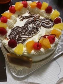 バイクのケーキ