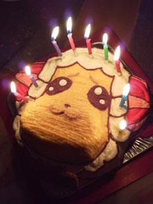ちゃちゃまるの顔型立体ケーキ