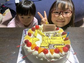 ショベルカーのケーキ