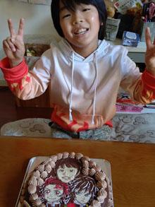 似顔絵と鬼滅の刃のキャラケーキ