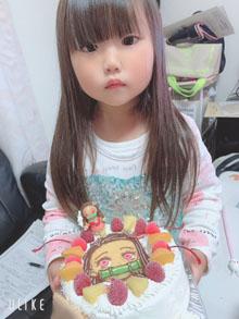 鬼滅の刃・ねずこのマスコット人形付きケーキ