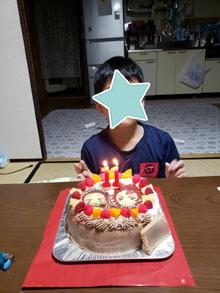 鬼滅の刃・禰豆子と炭治郎のキャラケーキ