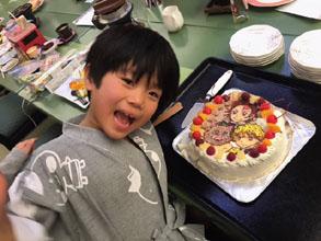鬼滅の刃のキャラクターケーキ