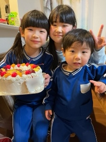 鬼滅の刃、誕生日ケーキ