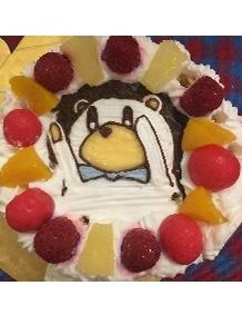 ハリネズミのキャラクターケーキ