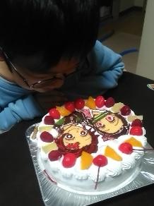 鬼滅の刃の誕生日ケーキ
