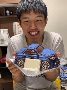 サプライズ成功です!! (愛車の立体ケーキ)(乗物立体ケーキ)