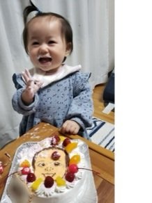 似顔絵豆乳ケーキ