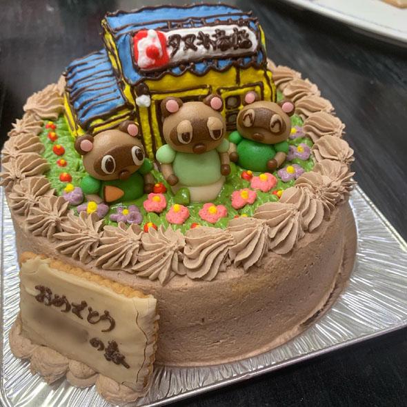 あつまれどうぶつの森の立体ケーキ