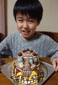 ネコバスの立体ケーキ