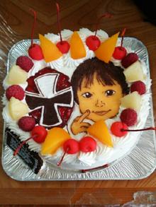 似顔絵とキャラクターのコラボ ケーキ