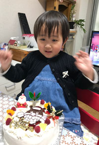 バイキンマンのキャラクターケーキ